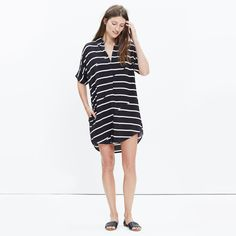 Courier Dress in Breakstripe : casual dresses | Madewell