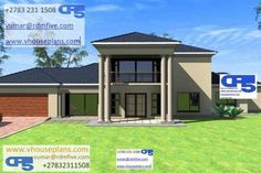 Double Storey House Plans, African House, Site Plans, Garage Plans, House Floor Plans, Home Collections, Future House, House Warming, Architecture Design