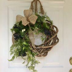 Fall Wreaths-Burlap Bow-Year Round Wreaths-Farmhouse