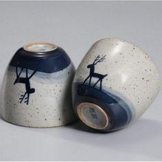 """Qing Hua Ci"" (Blue & White Porcelain) ""Deer"" Handpaint 80ml, Paint under Glaze, Tea Cup Chinese Tea Set, White Porcelain, Glaze, Deer, Tea Cups, Blue And White, Mugs, Tableware, Painting"