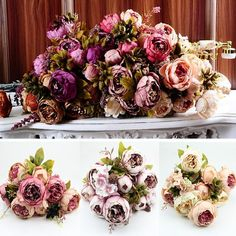 Best Quality 1 Bouquet 10 Heads Vintage Artificial Peony Silk Flower Wedding Home Decor At Cheap Price, Online Decorative Flowers & Wreaths | Dhgate.Com
