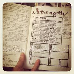 i like the weekly blocks to fill in - something to add to bullet journal