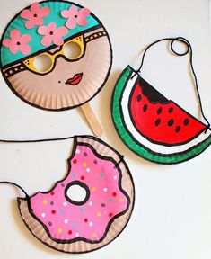 Crafts, paper plate masks, paper plate art, paper plate crafts for kids, pa Paper Plate Crafts For Kids, Crafts For Kids To Make, Fun Crafts For Kids, Craft Activities For Kids, Summer Crafts, Toddler Crafts, Preschool Crafts, Projects For Kids, Craft Projects