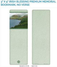 """Create laminated memorial bookmarks with Lamcraft's 3"""" x 9"""" Irish Blessing Premium Memorial Cards"""