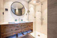 Chalet Largo - villa Chalet Largo Megeve | Isle Blue Alpine Style, Shared Bathroom, Rain Shower, Workout Rooms, Shower Heads, Great Rooms, Luxury Homes, Sweet Home, Vanity