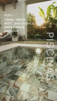 Swimming Pool Architecture, Tropical Pool, Good Company, Mosaic Glass, Swimming Pools, Deck, Porcelain, Outdoor Decor, Outdoors