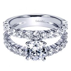 2.65cttw common prong set split shank style engagement ring