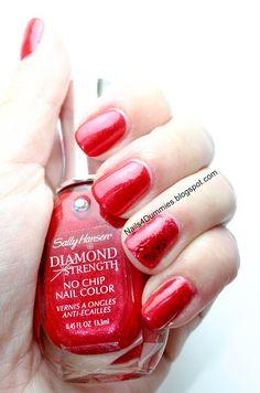 Sally Hansen Diamond Strength No Chip Nail Color Red Velvet