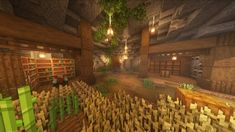 Minecraft Cave House, Minecraft Stables, Minecraft Cottage, Cute Minecraft Houses, Minecraft Farm, Minecraft Medieval, Minecraft Plans, Amazing Minecraft, Minecraft House Designs