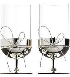 VERA WANG @ WEDGWOOD - Set of two Love Knots tealight holders   Selfridges.com