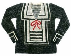 Schiaparelli sweater, circa 1929
