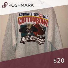 MSU bulldogs cotton bowl 1999 Vintage x large good condition long sleeve sweater LOGO 7 Sweaters Long Sleeve Sweater, Men Sweater, Cotton Bowl, Man Logo, Shop My, Man Shop, Bulldogs, Gray Color, Sweatshirts