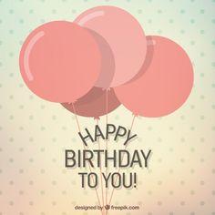 Happy birthday to you card I Free Vector
