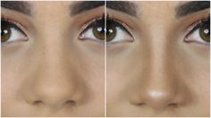 To make your nose look thinner and more narrow you just need to contour the sides of the nose.