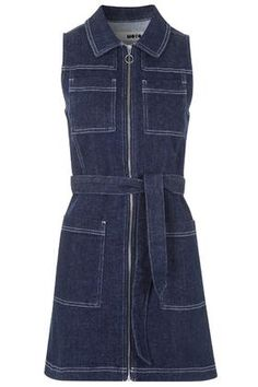 MOTO Zip Through Shirt Dress from Top Shop