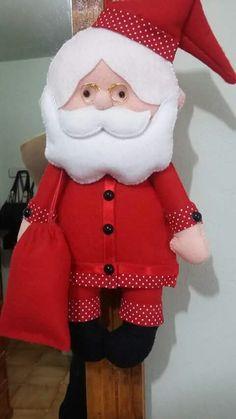 Papai noel em feltro; santa claus felt;