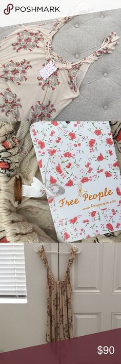🆕 Free People Dress/Tunic Brand new with tag. Beautiful Free People dress. Made in India. Available in size small and extra small. Retail price $98. 100% viscose material. Bundle for additional savings, will consider reasonable offers. Free People Dresses