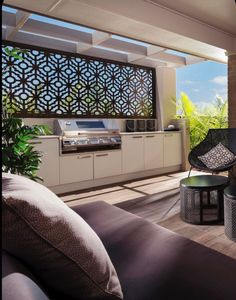 Outdoor Kitchen Ideas on a Budget (Affordable, Small, and DIY Outdoor Kitchen Id. - Our new house - Outdoor Kitchen Ideas Outdoor Bbq Kitchen, Patio Kitchen, Outdoor Kitchen Design, Country Kitchen, Diy Kitchen, Outdoor Areas, Outdoor Rooms, Outdoor Living, Outdoor Screens
