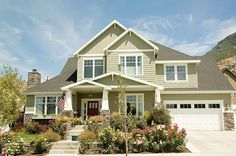 Green Stucco House Colors | ... home will blend beautifully with the gray/green of the main color