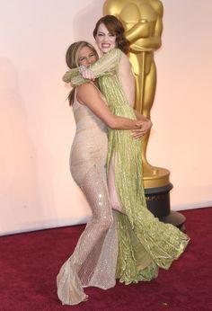 41 extremely surprising celebrity friendships: Jennifer Aniston and Emma Stone