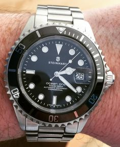 Steinhart ocean 1 with ceramic bezel . Without doubt one of the best value for money Swiss movement watches available . Dream Watches, Luxury Watches, Rolex Watches, Steinhart Watch, Watches Photography, Affordable Watches, Vintage Watches For Men, Fashion Watches, Gold Watch