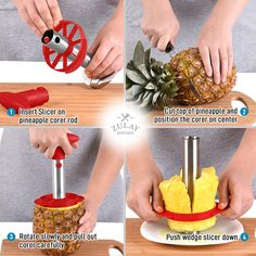 Watermelon Cutter, Cut Watermelon, Pineapple Slicer, Cut Pineapple, Fresh Bowl, Clean Dishwasher