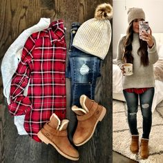winter outfits stylish 145 most popular christmas - winteroutfits Winter Outfits Women, Winter Fashion Outfits, Casual Fall Outfits, Look Fashion, Autumn Winter Fashion, Womens Fashion, Fashion 2020, Fashion Dresses, Ladies Fashion
