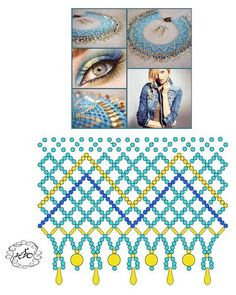 Beading Projects, Beading Tutorials, Diy Necklace Patterns, Knitted Necklace, Beaded Jewelry Designs, Beading Patterns Free, Bead Loom Bracelets, Bead Art, Bead Weaving
