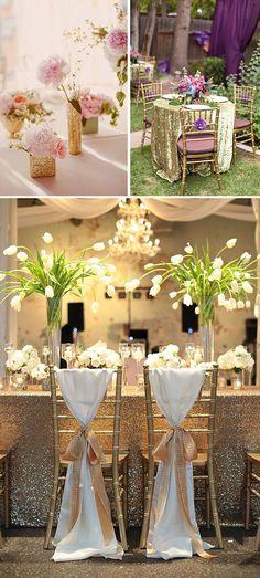 Tendencias de bodas 2015: Brillos y purpurina