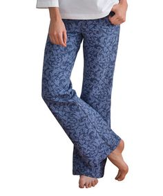 Look what I found on #zulily! Indigo Brocade Bootcut Jeans - Women by PajamaJeans #zulilyfinds
