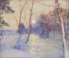 Walter Launt Palmer, Winter Moonrise