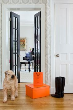 30 Black Interior and Exterior Doors Creating Brighter Home Decoratinglove the skinny french doors I need to find some just like them!skinny french doors for ford and goddess rooms or the rooms on the Black Interior Doors, Interior Paint, Interior And Exterior, Interior Design, French Interior, Black French Doors, Black Doors, Fun Easy Crafts, Easy Craft Projects