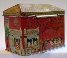 Village Stores.Norman Messenger - ian-logan-design-tins