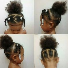haar kinderen meisjes Whether you are a cornrowing master or beginner, these toddler hairstyles for girls will keep those curls looking beautiful! Mixed Kids Hairstyles, Lil Girl Hairstyles, Natural Hairstyles For Kids, My Hairstyle, Braided Hairstyles, Cool Hairstyles, Natural Hair Styles, Hairstyle Ideas, Children Hairstyles