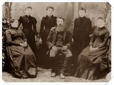 the ingalls family    seated from left: ma (caroline), pa (charles), mary    standing from left: carrie, laura, grace