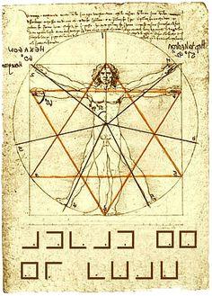The Vitruvian Man and Da Vinci's Merkaba   לאונרדו דה וינצי