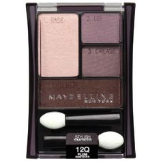 Maybelline New York Expert Wear Eyeshadow Quad in Plum Smokes. Absolute perfection for light skin + green eyes. If I'm going to bother with eye shadow, I want it to look good.
