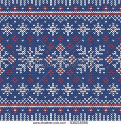 Christmas knitting seamless pattern with snowflakes. Perfect for wallpaper, wrapping paper, pattern fills, winter greetings, web page background, Christmas and New Year greeting cards