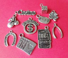 10 Casino/Lucky Charm by CharmsFindingsPlus on Etsy