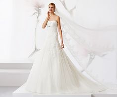 Shining dress with fabulous beaded embroidery tulle