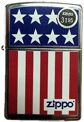 US Flag Stars and Stripes Polish Chrome Zippo. From the Patriot CollectionHigh Quality Official Zippo Windproof LighterMade in USALifetime GuaranteePackaged in an Environmental Friendly Gift Box