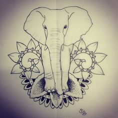 Elephant tattoo; my next tat will be an elephant, forrsure.!!!