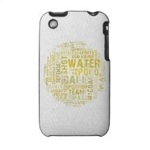 Water Polo Word Cloud Products Iphone 3 Case