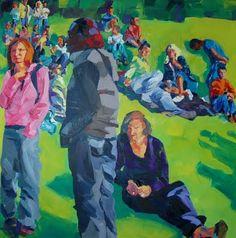 Birgit Schweiger SKEPSIS - 2013 100 x 100 cm  Oil - canvas