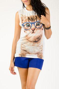 Nerdy Cat Graphic Tank  $12.99 at Marshalls
