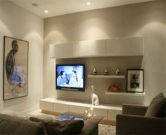 15 Collection new modern family room design with cool tv wall unit