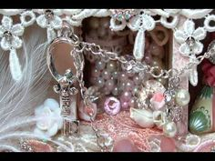 Shabby Chic altered shadow box 1st DT Project for Tresors-de-Luxe - YouTube