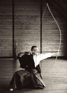 Japenese archery.   KYUDO