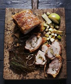 Traditional Roast Pork with Crackling and Applesauce Recipe – St. Patrick's Day 2013 – Courtesy of Irish Traditional Cooking by Darina Allen – Hudson Valley Magazine