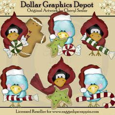 Christmas Birds - $1.00 : Dollar Graphics Depot, Your Dollar Graphic Store
